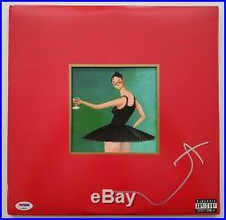 Kanye West Signed My Beautiful Dark Twisted Fantasy MBDTF Vinyl Record Album PSA