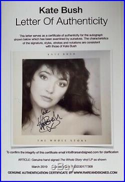 Kate Bush The Whole Story Hand Signed Autographed Vinyl Lp Album