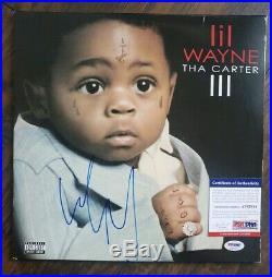 LIL WAYNE SIGNED AUTOGRAPHED THE CARTER IIl ALBUM VINYL LP with COA PSA/DNA