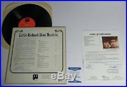 LITTLE RICHARD Signed Autograph Little Richard / Jimi Hendrix Album Vinyl LP