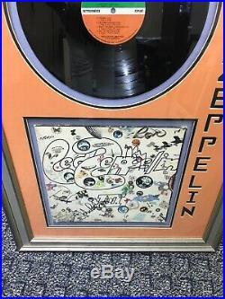 Led Zeppelin III Vinyl Lp Record Album Autograph Signed By Plant, Jones & Page