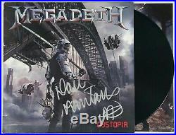 MEGADETH DAVE MUSTAINE SIGNED DYSTOPIA LP VINYL RECORD ALBUM With JSA CERT