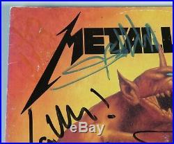 METALLICA Signed Autograph Jump In The Fire Album Vinyl LP x4 Cliff Burton +