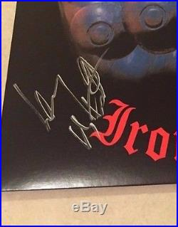 MOTORHEAD IRON FIST Signed Vinyl Record Album RARE LEMMY KILMISTER PSA AB60469