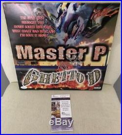 Master P Percy Miller Signed Ghetto D Vinyl Album Record W JSA COA
