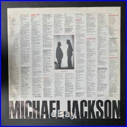 Michael Jackson BAD VINYL ALBUM Autographed Signed JSA COA