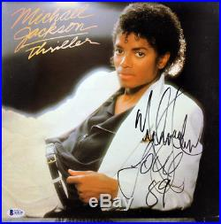 Michael Jackson Love 89 Signed Thriller Album Cover With Vinyl BAS #A10236