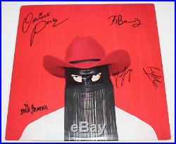 Orville Peck Band Full Signed Authentic Pony Vinyl Record Album Lp Coa Proof X5