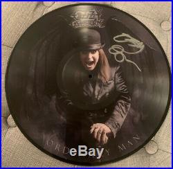 Ozzy Osbourne Signed Picture Vinyl Album Ordinary Man Proof 2020 Flyer Amoeba
