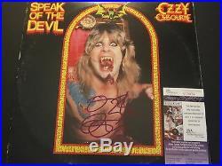 Ozzy Osbourne Signed Speak Of The Devil Vinyl Album Cover Jsa Black Sabbath