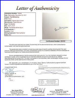 Paul McCartney Signed The Beatles White Album Cover With Vinyl JSA #Z53123