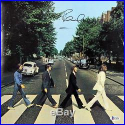 Paul McCartney The Beatles Signed Abbey Road Album Cover With Vinyl BAS #A10243
