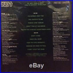 Peter Criss Signed 1978 Solo Album Picture Disc Lp Vinyl Kiss +event Pic 3/2/18