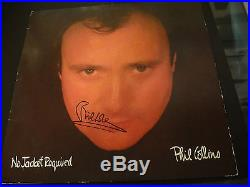 Phil Collins IN PERSON PROOF Signed No Jacket Required Vinyl Album PSA/DNA JSA