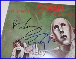 QUEEN BRIAN MAY ROGER TAYLOR SIGNED'NEWS OF THE WORLD' VINYL RECORD ALBUM WithCOA