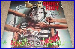 QUIET RIOT signed album vinyl by entire band-KEVIN DUBROW (RIP)
