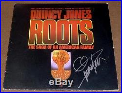QUINCY JONES SIGNED ROOTS SOUNDTRACK RECORD ALBUM with PROOF! LP VINYL