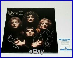Queen Brian May Roger Taylor Signed'ii' Album Vinyl Record Lp Beckett Coa Proof