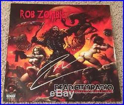 ROB ZOMBIE SIGNED AUTOGRAPH DEAD CITY RADIO 10 VINYL ALBUM withPROOF