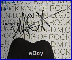 RUN DMC & JAM MASTER JAY Signed Autograph King of Rock Album Vinyl LP by 3