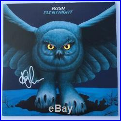 RUSH FLY BY NIGHT SIGNED VINYL LP ALEX LIFESON AUTOGRAPH ALBUM withEXACT PROOF