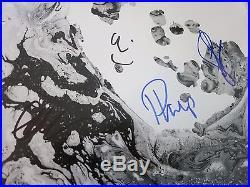 Radiohead signed record by 4 coa + Proof! Radiohead autographed album vinyl lp