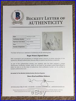 Roger Waters Pink Floyd Signed Autographed The Wall Album Vinyl COA Beckett LOA