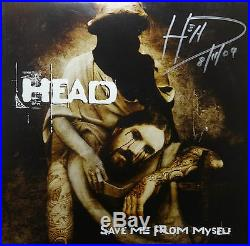 SIGNED KORN HEAD AUTOGRAPHED SAVE ME FROM MYSELF SOLO 12 VINYL ALBUM WithPIC