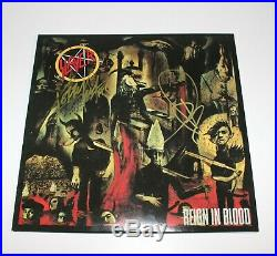 SLAYER KERRY KING TOM ARAYA SIGNED'REIGN IN BLOOD' VINYL ALBUM RECORD LP withCOA