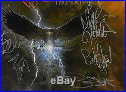 Saxon Full Band JSA Signed Autograph Record Album Vinyl Thunderbolt