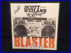 Scott Weiland Signed Blaster Album Jacket + Orange Vinyl