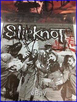 Slipknot Band Signed 1st Album, 7 Autographs, Green Vinyl (Including Paul Gray)