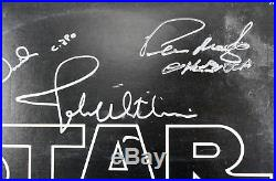Star Wars (6) Hamill, Prowse, Bulloch +3 Signed Album Cover With Vinyl BAS #A70460