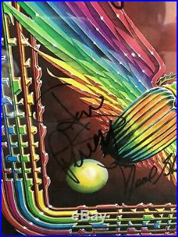 Steve Perry +4 Signed Journey Departure Vinyl Album Custom Matted & Framed