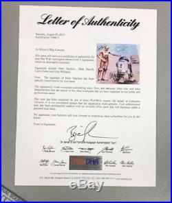 T06613 Carrie Fisher John Williams Signed Record Album Vinyl AUTO PSA/DNA LOA