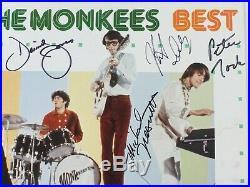 THE MONKEES Signed Autograph Best Album Vinyl LP x4 Davy Jones, Nesmith, Tork