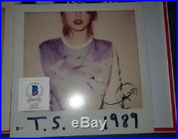 Taylor Swift Autographed Signed 1989 Vinyl Album lp Beckett BAS COA
