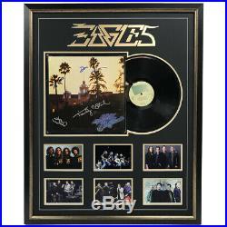 The Eagles Hand Signed Framed Hotel California Vinyl Album Frey Henley Walsh