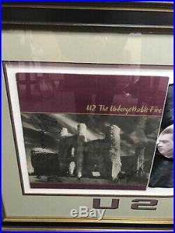 U2 Bono & Larry Mullen Signed The Unforgettable Fire Vinyl Album Custom Framed