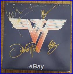 VAN HALEN 2 vinyl SIGNED AUTOGRAPH ALBUM COVER LP COMPLETE! ALL 4