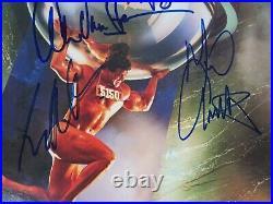 VAN HALEN Signed Autograph 5150 Album Vinyl LP by 4 Sammy Hagar, Eddie +