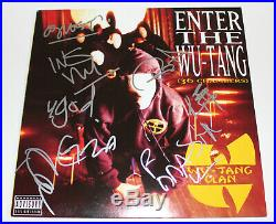 Wu-tang Clan Group Signed Enter The Wu-tang (36 Chambers) Vinyl Album Lp X9 Coa